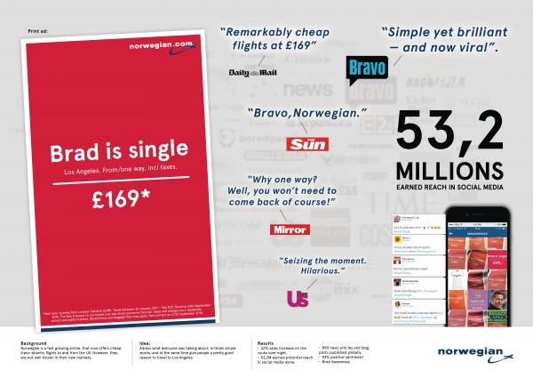 'Brad is Single' ad